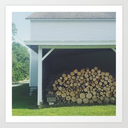 Wood Stack Art Print