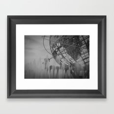 flushing... Framed Art Print