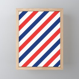 Barber Stripes Framed Mini Art Print