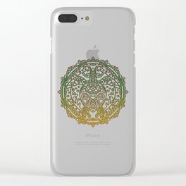 Turtle Mandala Clear iPhone Case