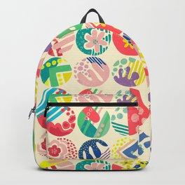 Abstract circle fun pattern Backpack