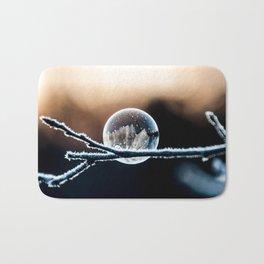 Wintry World in Frozen Bubble Bath Mat