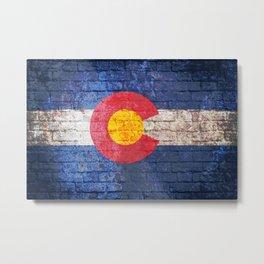 Colorado brick wall Metal Print