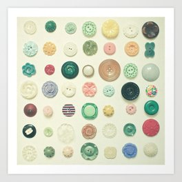 The Button Collection Art Print
