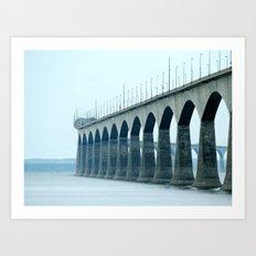 Confederation Bridge Prince Edward Island Art Print