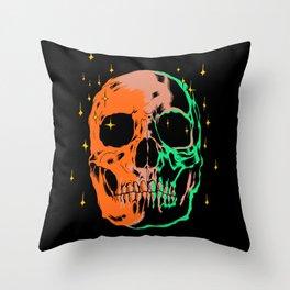 Space skull v1 Throw Pillow