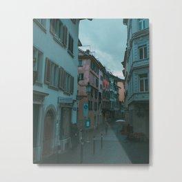 Zurich Alley I Metal Print
