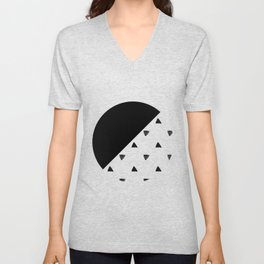 Triangle and triangles Unisex V-Neck