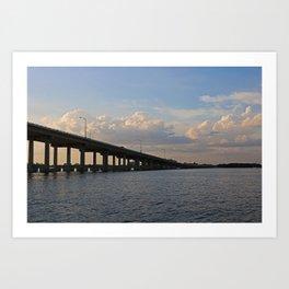 Under the Caloosahatchee Bridge Art Print