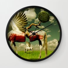 Pegasus Divided Wall Clock
