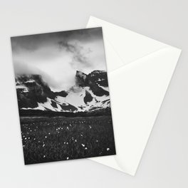Dyrfjoll in Moody Black and White Stationery Cards