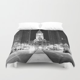 Philly by Night Duvet Cover