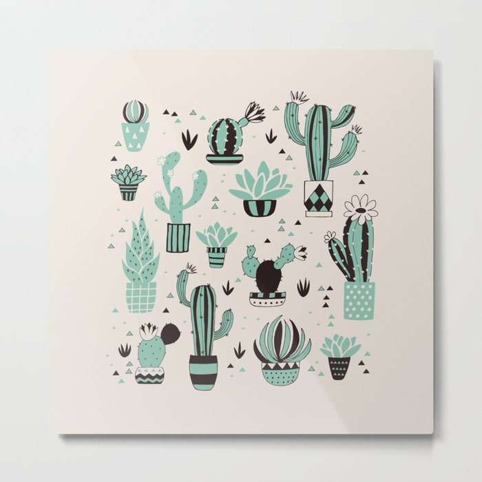 Cacti in a pot Metal Print