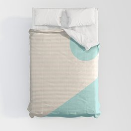 Lines and Shapes in Light Pink and Aqua Blue Comforters