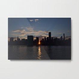 Manhattan From Queens Metal Print
