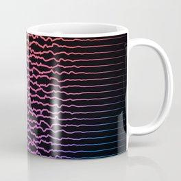 Colorful sound waves, curved lines Coffee Mug
