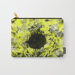 Grunge Paint Splatter Flower Carry-All Pouch