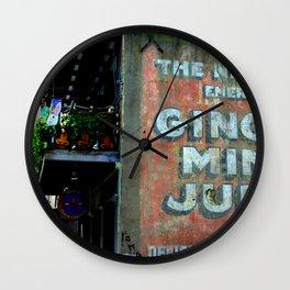 ginger mint julep Wall Clock