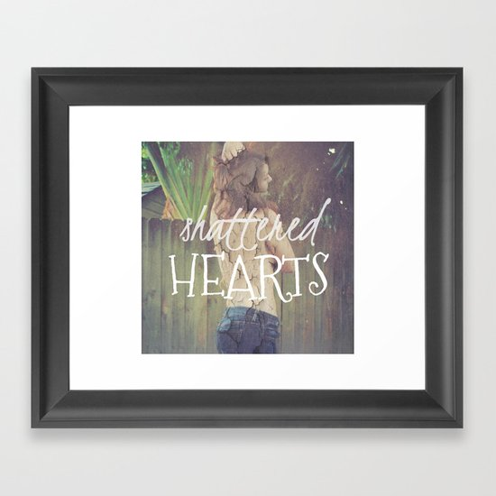 Shattered Hearts Club Framed Art Print