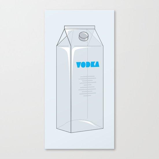 Vodka in a box Canvas Print