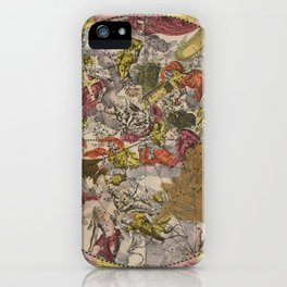 Keller's Harmonia Macrocosmica - Scenography of the Southern Celestial Hemisphere 1661 iPhone Case