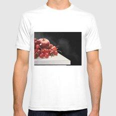 Eat More Fruit MEDIUM White Mens Fitted Tee