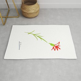 Picasso Flower Artwork for Wall Art, Prints, Posters, Tshirts, Men, Women, Youth Rug