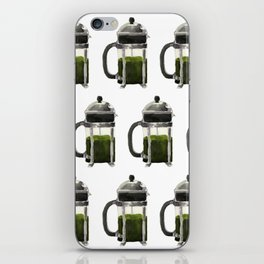French Press - Olive Green iPhone Skin