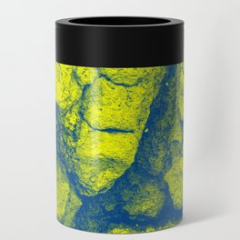 Abstract - in yellow & green Can Cooler