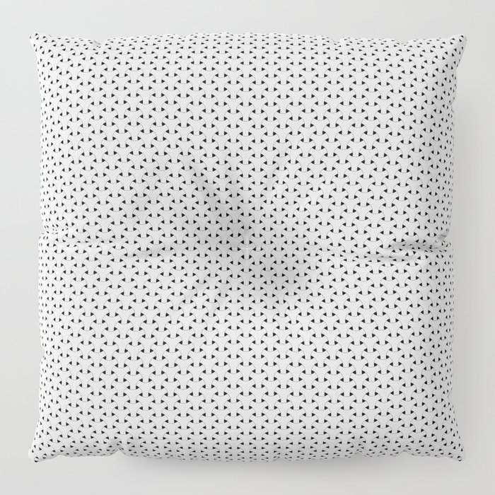 Black and White Basket Weave Shape Pattern - Graphic Design Floor Pillow