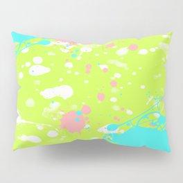 Tropical Ink Splatter Pillow Sham