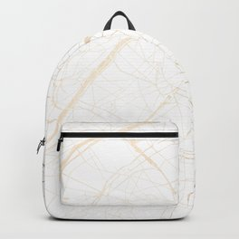 Paris Gold and White Street Map Backpack