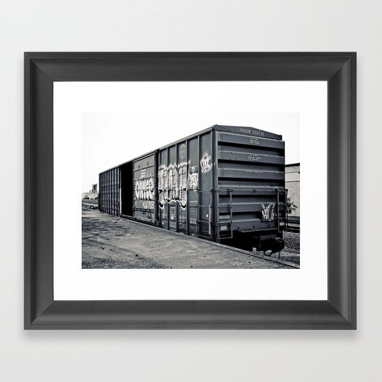 Train car Framed Art Print