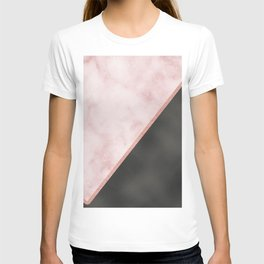 Sivec Rosa marble - black leather T-shirt