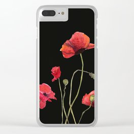 Poppies at Midnight Clear iPhone Case