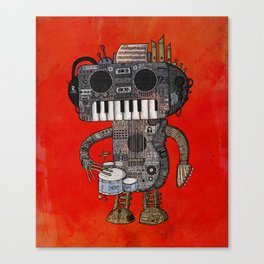 Musicbot Canvas Print