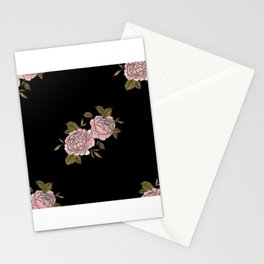 Pink Roses Watercolor Painting Pattern Stationery Cards