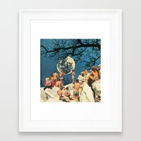 the moon Framed Art Prints featuring Moon by Ben Giles