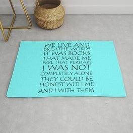 We Live And Breathe Words Rug