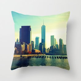 Fall Colors in Lower Manhattan Throw Pillow