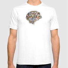my brain looks different MEDIUM White Mens Fitted Tee