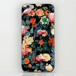 Floral and Flemingo II Pattern iPhone Skin