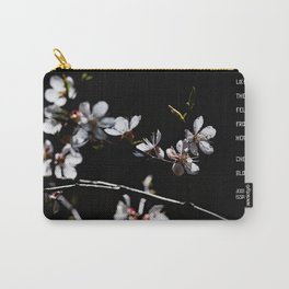Sakura flowers on black 02 Carry-All Pouch
