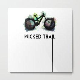 Wicked Trailbike Metal Print