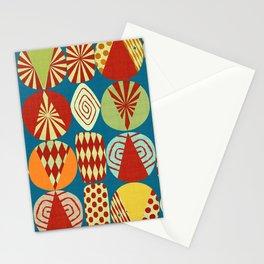 Christmas Tree minimalist blue Stationery Cards