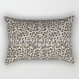 Elegant gold leopard animal print pattern Rectangular Pillow