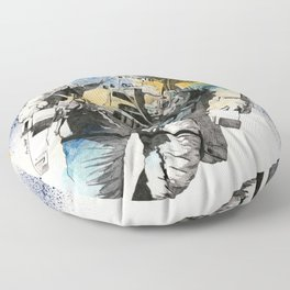 Clavius | astronaut floating in the space Floor Pillow