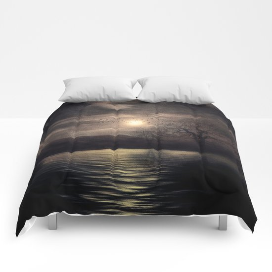 Sunset after the storm Comforters