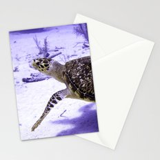 Swimming Hawksbill Turtle Stationery Cards