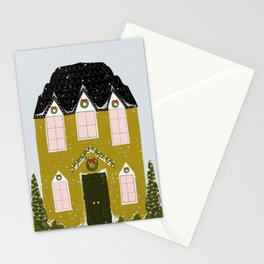 Winter House Stationery Cards